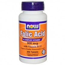FOLIC ACID 800MCG + B12 25MCG 250 CPR